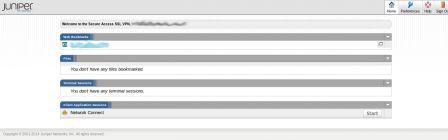 Juniper SSLVPN 登入後畫面