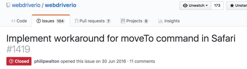 我難過的不是程式寫不出來,而是每一個瀏覽器 driver 支援 API 的程度不一樣